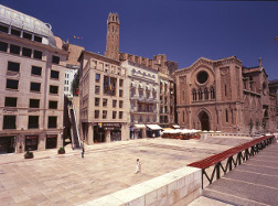 Plaza San Juan Lleida en Cataluña